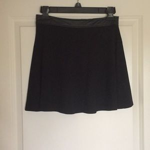 Black Skirt with Leather Band